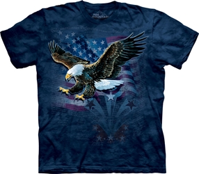 Declaration Eagle with American Flag T-Shirt  Declaration Eagle with American Flag T-Shirt, Patriotic eagle and flag tee shirt