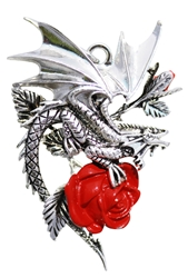 Draca Rosa for Charisma And Courage by Anne Stokes  Anne Stokes Carpe Noctum Pendant  Product Code: CA04