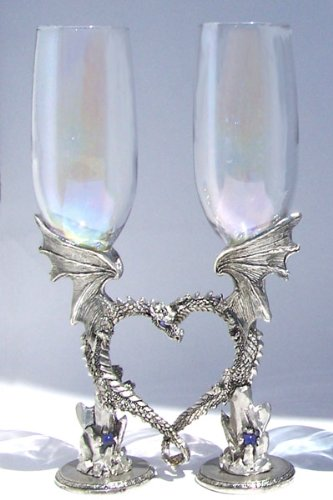 Dragon Heart Glasses-Pewter Toasting Glasses