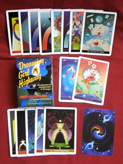 Dreaming Girl Highway Inner Vision Card Tarot Deck Self Published  Dreaming Girl Highway Inner Vision Card Deck