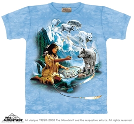 Dreams of the Wolf Spirit T-Shirt Native American Inspired
