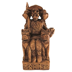 Dryad Designs Seated Odin Statue by Paul Borda Dryad Designs Seated Odin Statue by Paul Borda