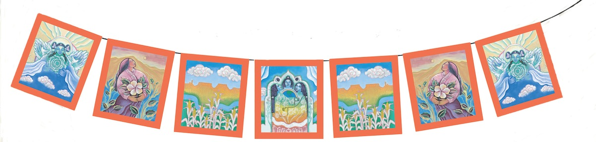 Earth Blessings Goddess Garden Flags