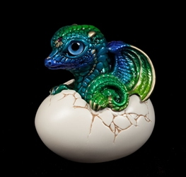 Emerald Peacock Hatching Dragon by Windstone Editions