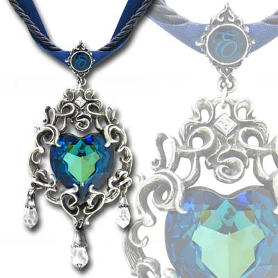Empress Eugenies Blue Heart Diamond Necklace