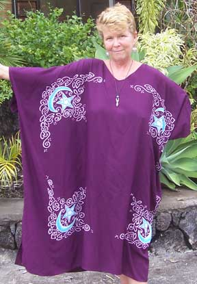 Extra Large Purple Celtic Caftan Dress/Top