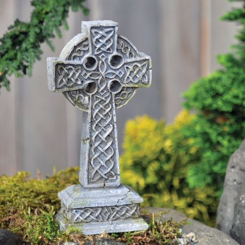 FAIRY GARDEN Miniatures Celtic Cross FAIRY GARDEN Miniatures Celtic Cross. Celtic Cross statue, Fairy Garden