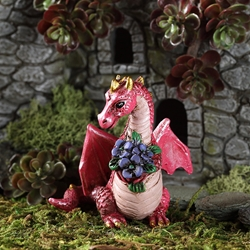 Fairy Garden Little Dragon with Flowers