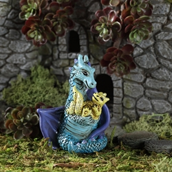 Fairy Garden Little Mom and Baby Dragon