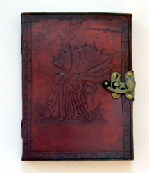 Fate Fairy Embossed Leather Journal by Sabrina the Ink Witch