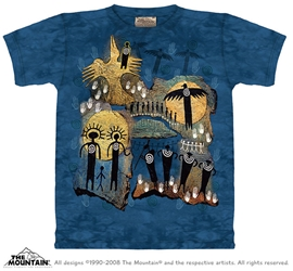 Flight of the Shaman Tee Shirt Native American Inspired