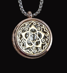 Flower Goddess Pentacle (Gold) Essential Oil Necklace Diffuser