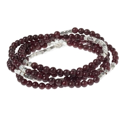 Garnet Wrap Gemstone Bracelets/Necklace/Anklet Garnet Wrap Gemstone Bracelets/Necklace/Anklet