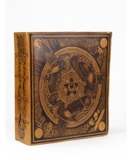 Gold Leather Morrigan Book of Shadows