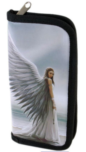 Gothic Billfold Wallet Spirit Guide Wallet by Anne Stokes Angel w/ Key