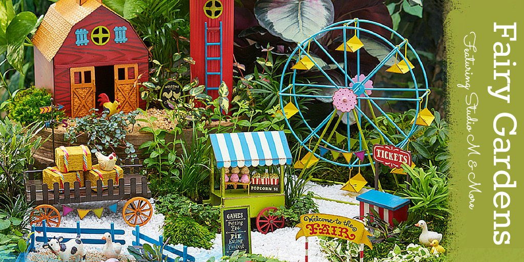 Gypsy Garden Mini Ferris Wheel Fairy Garden By Genevieve