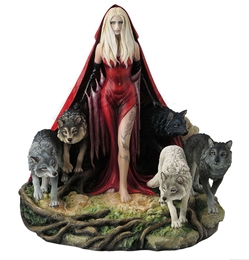 HOWL By Ruth Thompson Woman and Wolves Statue