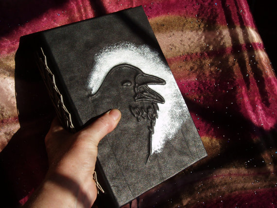 Handcrafted Chunky Raven Leather Journal