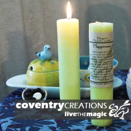 Happiness Blessed Herbal Spell Candle