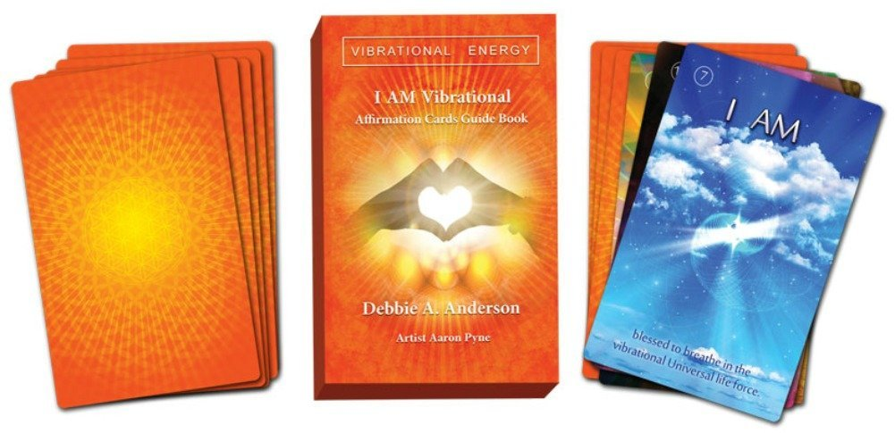 I AM Vibrational Energy Cards Self Published Affirmation Deck by Debbie Anderson