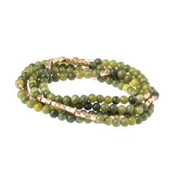 Jade Wrap Gemstone Bracelets/Necklace/Anklet Jade Wrap Gemstone Bracelets/Necklace/Anklet, stack bracelet, jade bracelet