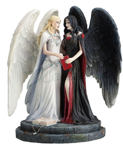 Light and Dark Angel Statue by James Ryman