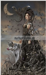 Limited Edition Nene Thomas Bellamaestra, Lady of Pain Print Signed w/ wolf