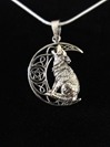 Lisa Parker Howling Wolf Pentacle Sterling Silver Pendant