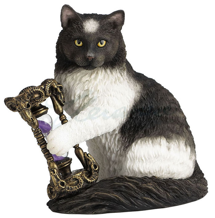 Lisa Parker Magical Cat TIME'S (Times) UP Statue