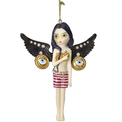 Mechanical Angel III Fairy Ornament by Jasmine Becket-Griffith