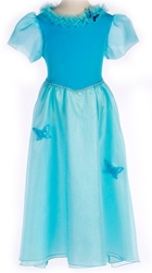 Blue Butterfly Princess Dress