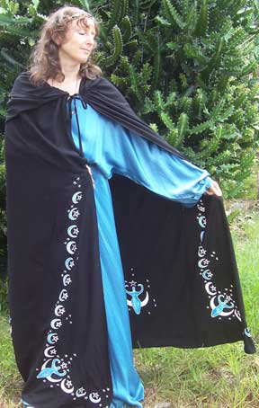 Moon Goddess Black Full Cape