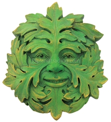 Mystic Greenman Wall Plaque