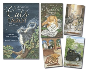 Mystical Cat Tarot Deck and Book by Lunaea Weatherstone and Mickie Mueller