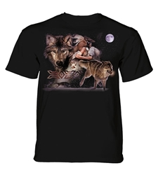 Native American Inspired Tee Shirt| Arapaho Wolf  Native American Inspired Tee Shirt| Arapaho Wolf