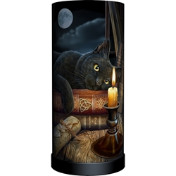 Nemesis Now Lisa Parker Round Lamp Witching Hour  Nemesis Now Lisa Parker Round Lamp Witching Hour, black cat, cat lamp, cat home decor