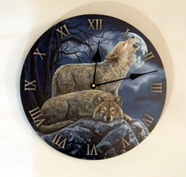 Nemesis Now Lisa Parkers Two Wolves Clock