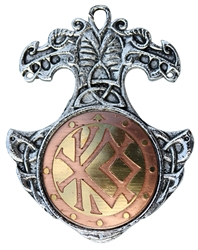 Norse Bindrune Charm Pendant  for Courage