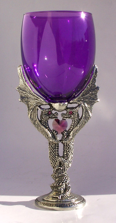 Pewter Dragon Passion Wine Glass At Dpg