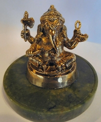 Sale! Lord Ganesha Remover of Obstacles 24KT Gold-Plated Figurine