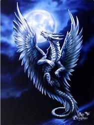 Silver Dragon Canvas Art Print by Anne Stokes Silver Dragon Canvas Art Print by Anne Stokes