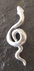 Snake Wisdom Pendant - For Wisdom & Rebirth Sterling Silver