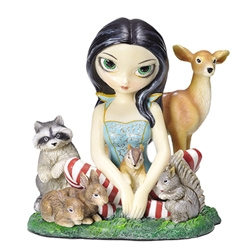 Snow White Fairy and Her Friends Fairy Figurine by Jasmine Becket-Griffith