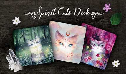 Spirit Cats Inspirational 48 Card Deck by Nicole Piar