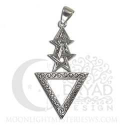 Sterling Silver 1st Degree Wicca Pentacle Pendant