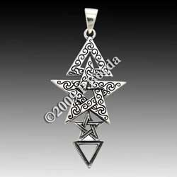 Sterling Silver 3rd Degree Pentacle Pendant By Dryad Designs