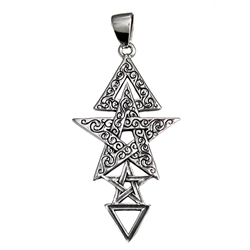 Sterling Silver 3rd Degree Witchcraft Pentacle Pendant By Dryad Designs Sterling Silver 3rd Degree Witchcraft Pentacle Pendant By Dryad Designs, Wicca third degree