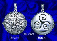 Sterling Silver Moon Pentacle Aromatherapy Locket