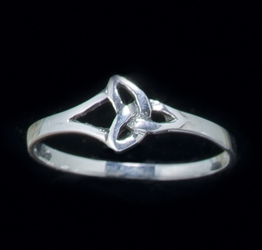 Sterling Silver Tiny Triquetra Ring