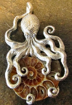 Sterling Silver Totem Animal The ''Kraken'' Octopus Pendant